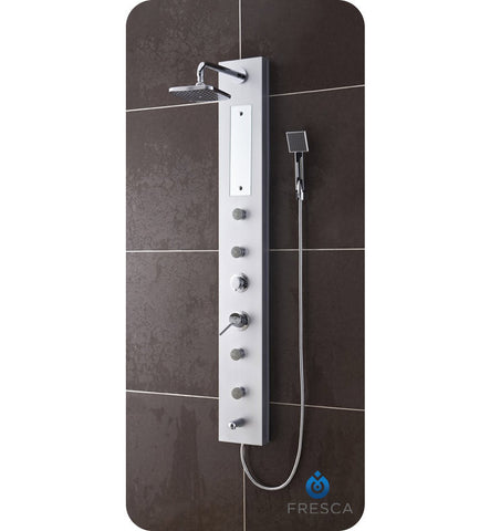 Fresca Salerna PVC Shower Massage Panel in Silver FSP8004SL
