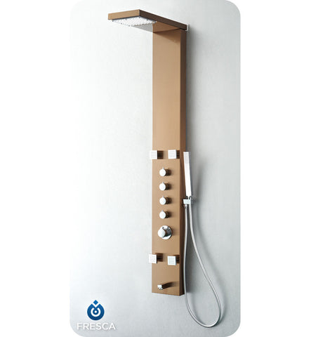 Fresca Verona Stainless Steel Thermostatic Shower Massage Panel in Brushed Bronze FSP8006BB