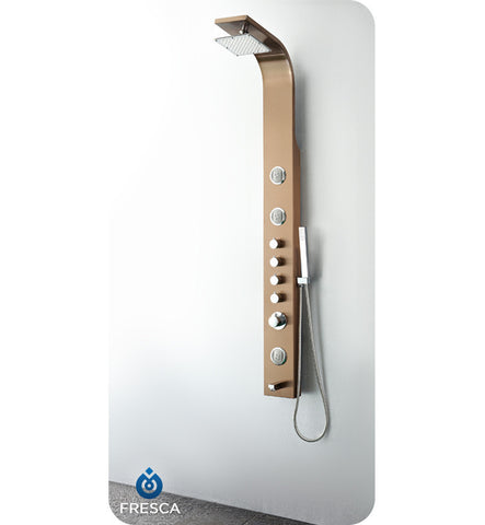 Fresca Geona Stainless Steel Thermostatic Shower Massage Panel in Brushed Bronze FSP8009BB