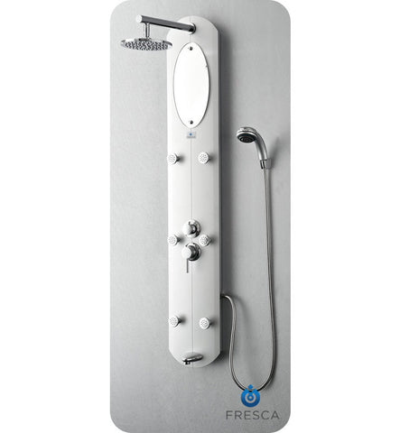 Fresca Novara PVC Shower Massage Panel in Silver FSP8010SL