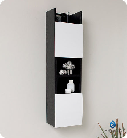 Fresca Bathroom Linen Cabinet with 3 Open Shelves FST2020WG