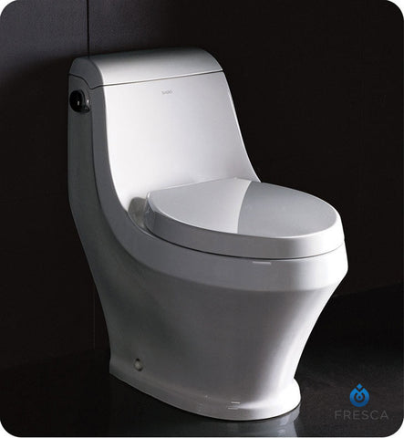 Fresca Volna One Piece Contemporary Toilet FTL2133