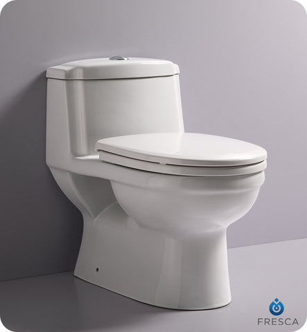 Fresca Dorado One Piece Dual Flush Toilet with Soft Close Seat FTL2222