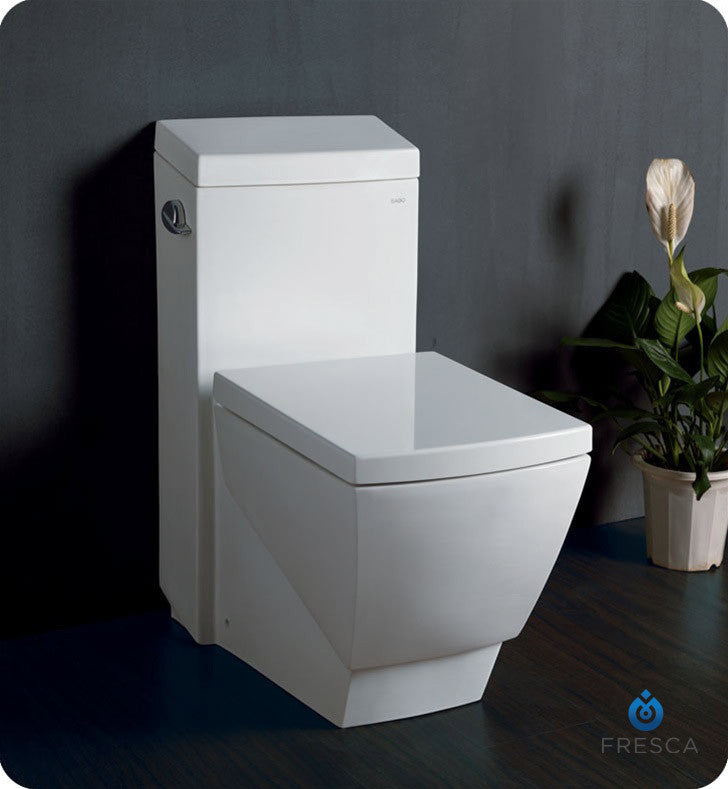 Fresca Apus One Piece Square Toilet with Soft Close Seat FTL2336