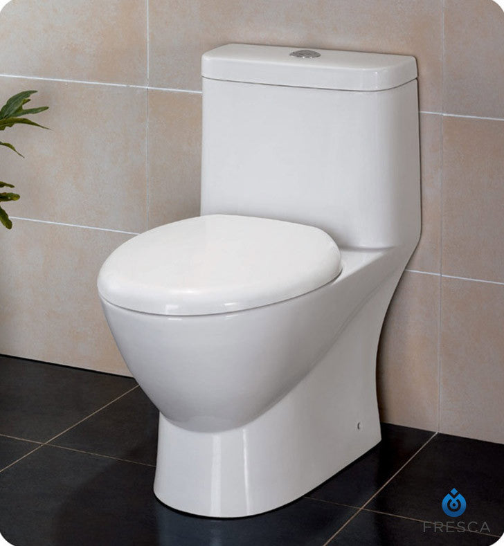 Fresca Serena One Piece Dual Flush Toilet with Soft Close Seat FTL2346