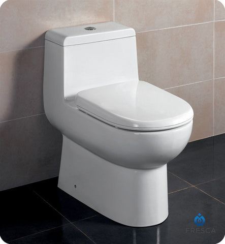 Fresca Antila One Piece Dual Flush Toilet with Soft Close Seat FTL2351
