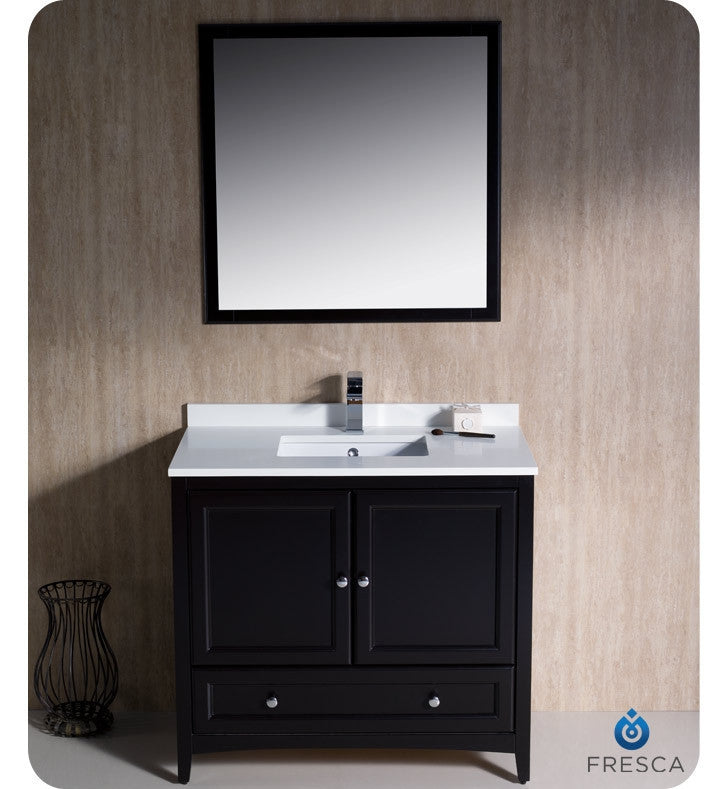 "Fresca Oxford 36"" Espresso Traditional Bathroom Vanity FVN2036ES"