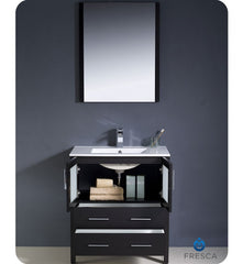 "Fresca Torino 30"" Espresso Modern Bathroom Vanity with Integrated Sink FVN6230ES-UNS"