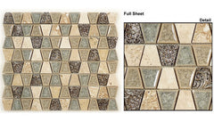 Tranquil Trapezoid Series TS-930 Tender Harbor Glass Mosaic
