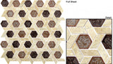 Tranquil Hexagon Series Jerusalem Garden TS952