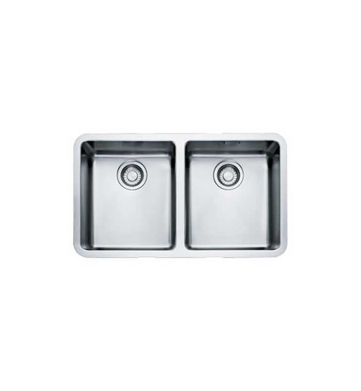 Franke KBX12030 Kubus Double Basin Undermount Stainless Steel Kitchen Sink