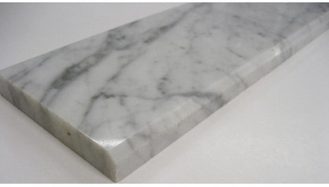 Marble Door Saddle/Threshold Carrara 2 Bevels (Multiple Sizes In Stock!)