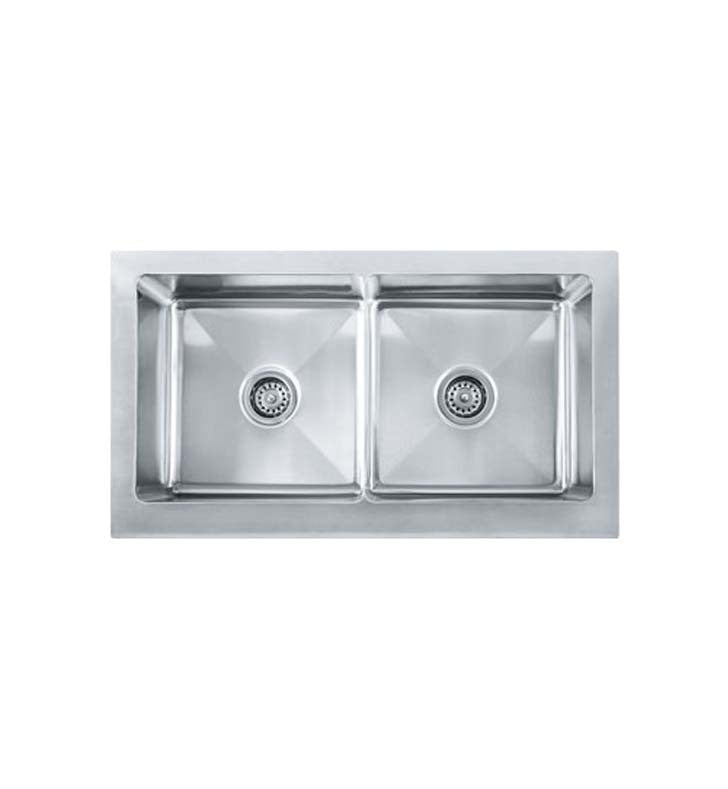 Franke MHX720-36 Manor House Double Basin Farmhouse Stainless Steel Kitchen Sink