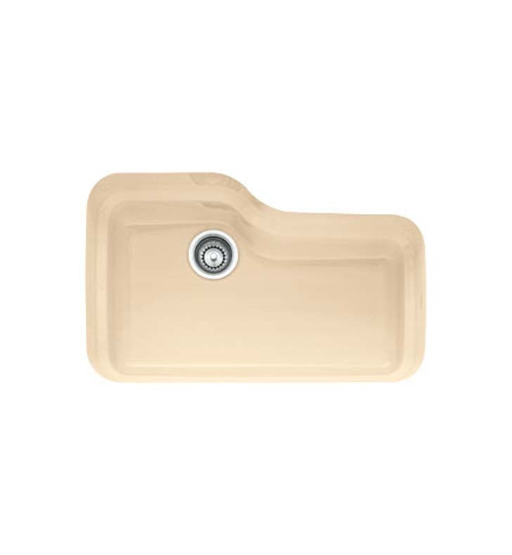 Franke ORK110BT Orca Single Basin Undermount Fireclay Kitchen Sink in Biscuit