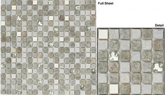 OP-01 Glass Tiles Opulence Flint Smoke 1/2x1/2