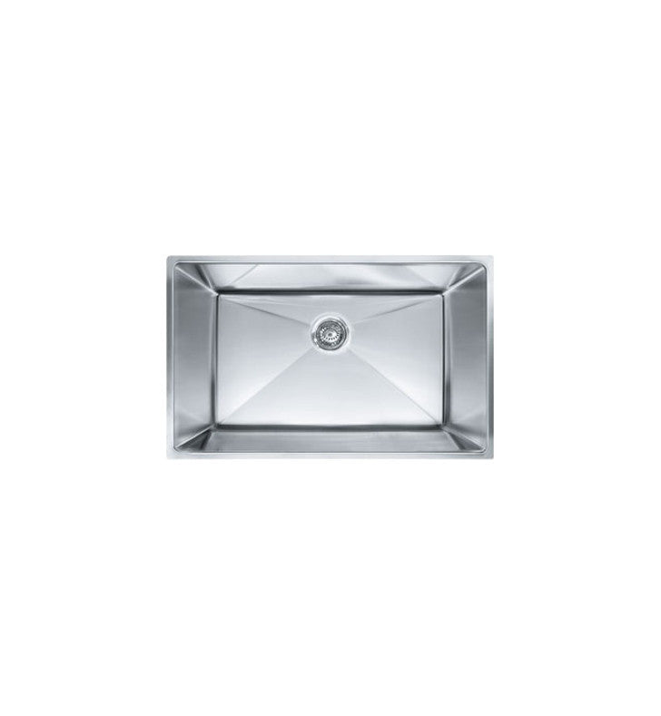 Franke PEX110-31 Planar 8 Single Basin Undermount Stainless Steel Kitchen Sink