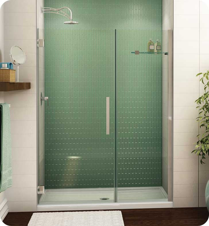 Fleurco Platinum Kara Shower Door and Panel with Wall Mount Hinges PGKP