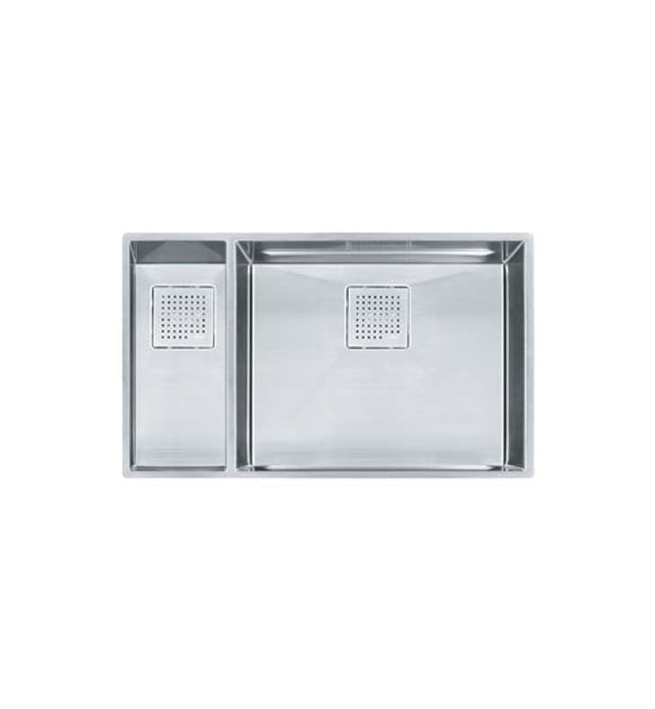 Franke PKX160LH Peak Double Basin Undermount Stainless Steel Kitchen Sink