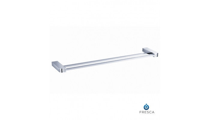 "Fresca Solido 20"" Double Towel Bar in Chrome FAC1339"