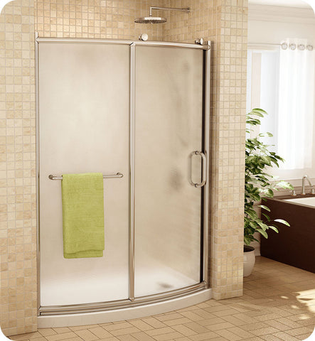 Fleurco Forte Roma Bowfront Curved Shower Door and Panel FRMBF60
