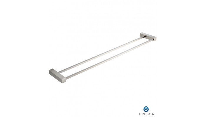 "Fresca Ottimo 26"" Double Towel Bar in Brushed Nickel FAC0440BN"