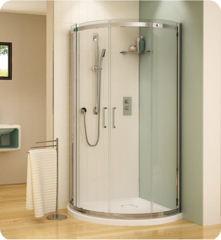 Fleurco Banyo Shuttle Arc 40 Semi Frameless Curved Sliding Doors STA40