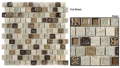 Tranquil Offset TS-927 1 x 1 Glass Mosaic Tile