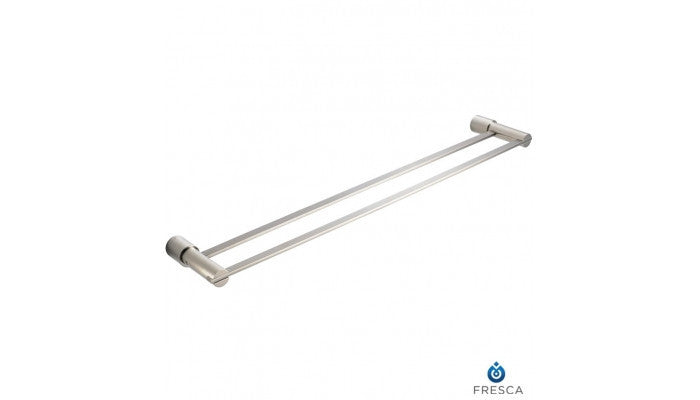 "Fresca Magnifico 26"" Double Towel Bar in Brushed Nickel FAC0140BN"