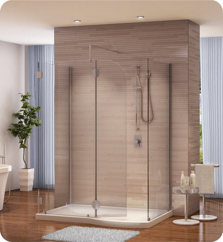 Fleurco Evolution 5' Walk in Shower Shield VW56301 with Square Top