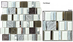 Academia Series AS77 Evolution Grey Glass Mosaic Tile
