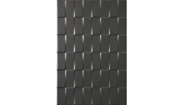 Olympia Tile Twill White Charcoal Matte 8 x 12 Ceramic (Call for Price)