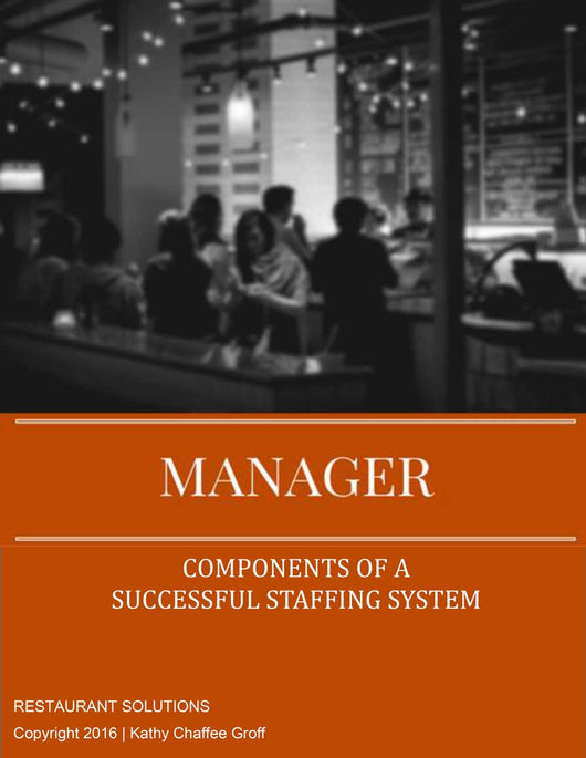 Restaurant Solutions Manager Staffing