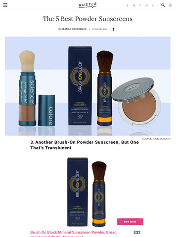 Bustle Magazine | Brush On Block Mineral Powder Sunscreen - Best Powder Sunscreens