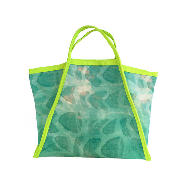 Shell Watermark Asymmetrical Tote