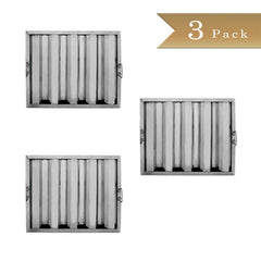 "Set of 3 - True Craftware Stainless Steel Range Hood Filter - 20"" H x 16"" W (510 x 405mm)"