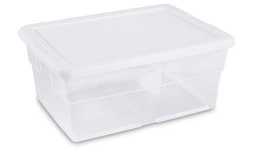 True Craftware Clear Storage Bin With White Lid   6 Quarts (Set Of 6)