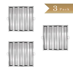 "Set of 3 - True Craftware Stainless Steel Range Hood Filter - 20"" H x 20"" W (510 x 510mm)"