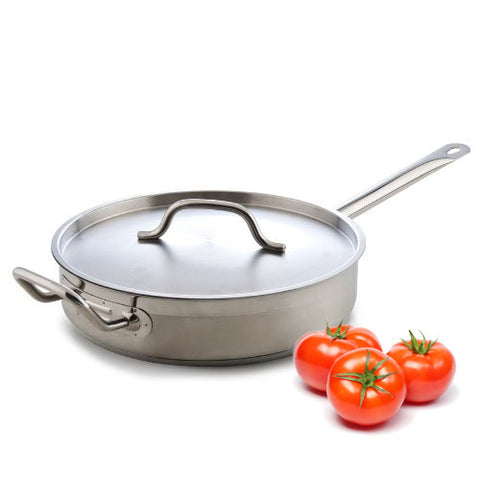 True Craftware 3 Qt. Stainless Steel Saute Pan with Lid and Handle