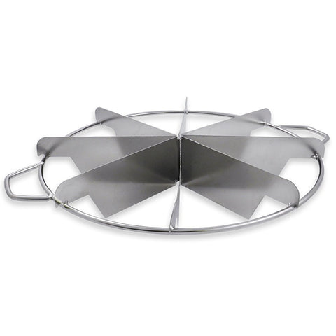 True Craftware Stainless Steel Pie Cutter - 8 Slice - with Side Handles