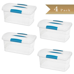 True Craftware Medium Semi-Transparent Storage Containers with Lid and Handle