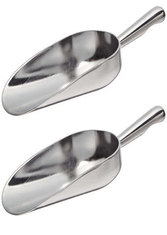True Craftware 5 Oz Aluminium Scoops with a Contoured Handle (Set of 2)