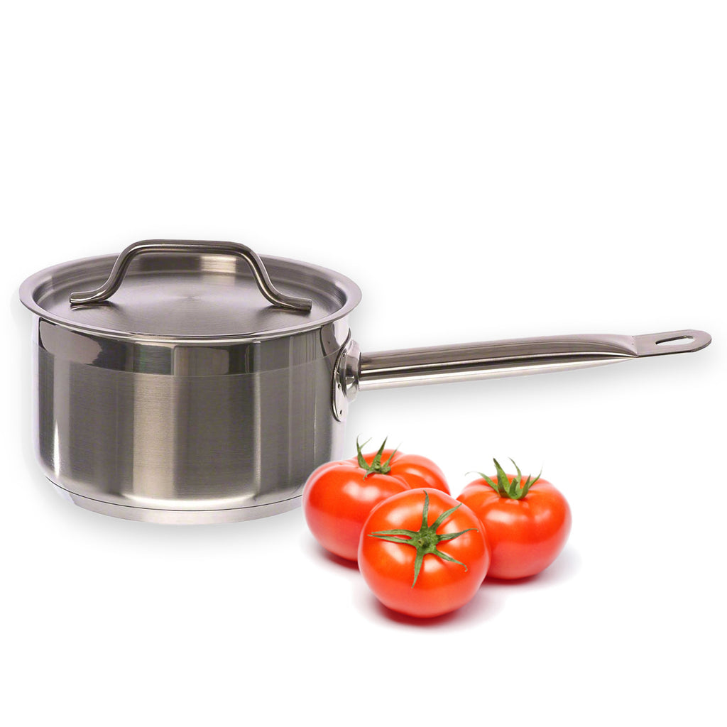 True Craftware 2 Quart - Commercial Stainless Steel Sauce Pan and Lid