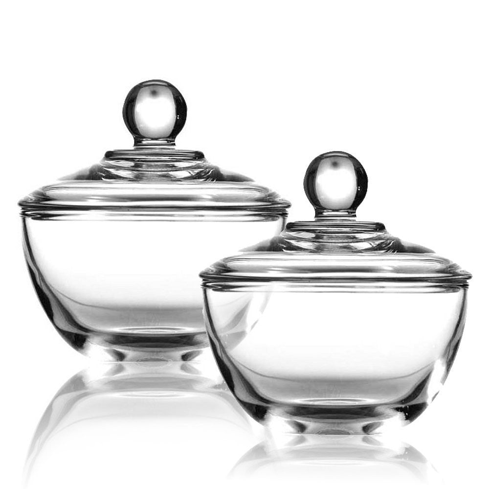 Sugar bowls with lids - True Craftware Clear Glass Sugar Bowls With Lid 8 Ounce Set Of 2