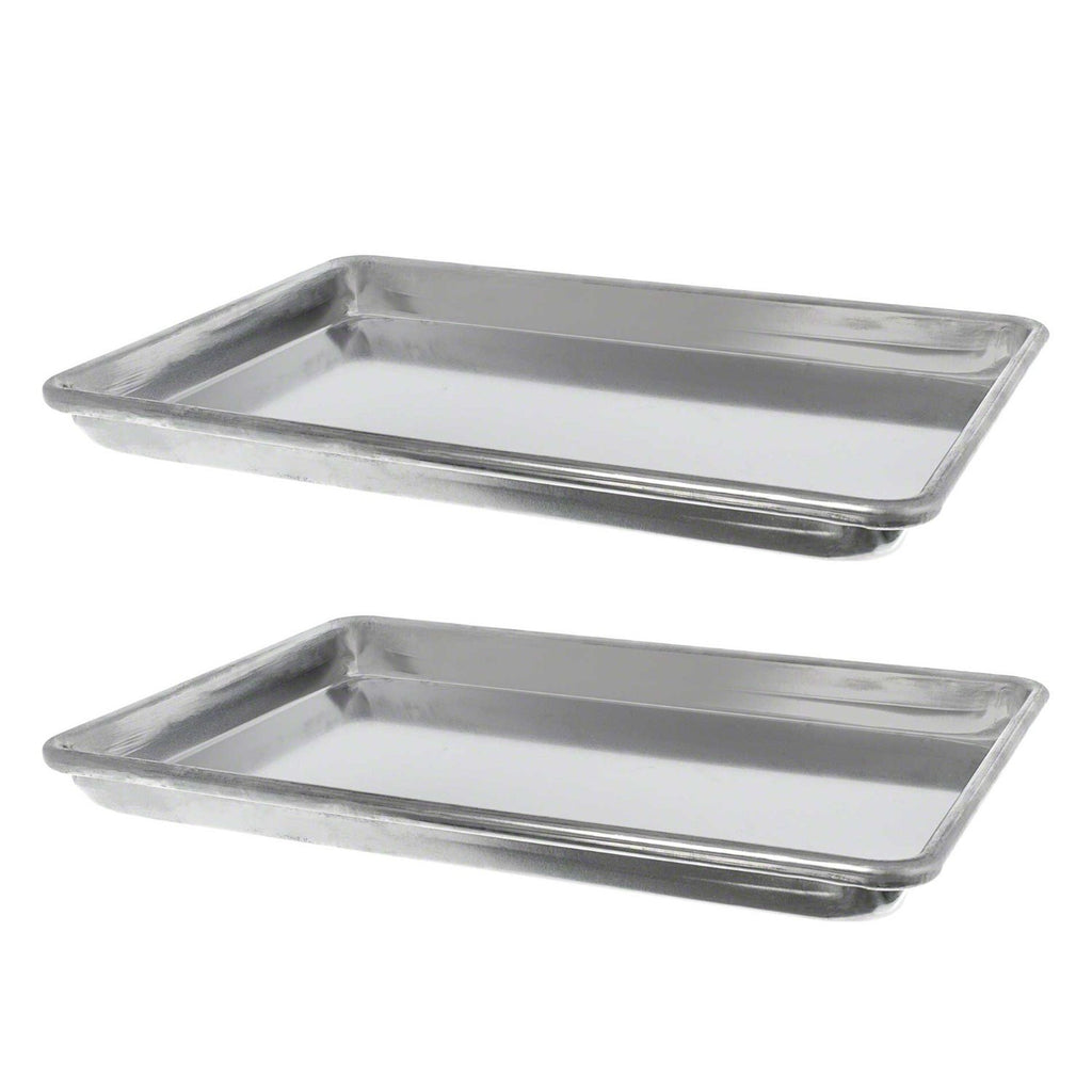 "True Craftware Aluminium Commercial Baker's 1/4 Size - Quarter Size - Baking Trays - Sheets - Pans 9"" x 13"" (Set of 2)"