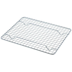 "(Set of 4) True Craftware Half-Size, Heavy Duty Wire Pan Grate - 8"" x 10"" - Cooling Rack - Chrome Plated"
