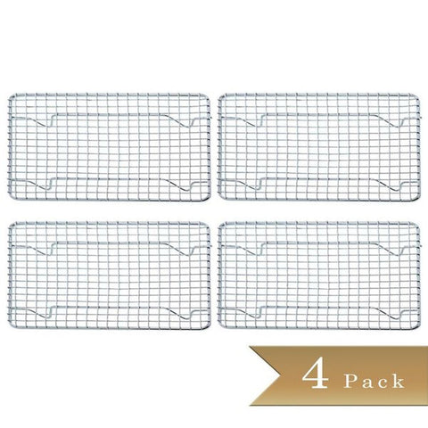 (Set of 4) True Craftware Half-Size, Heavy Duty Wire Pan Grate - 8