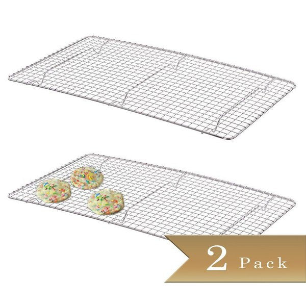 "2 - True Craftware Chrome Plated Wire Pan Grate - Cooling Racks 10"" x 18"""