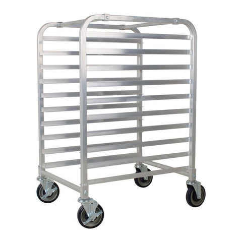 Commercial 10 Tier Bun Pan Rack - Aluminium Full or Half Size Sheet Pan Rack with Locking Wheels