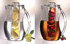 True Craftware Iced Tea and Fruit Infuser Clear Plastic Water Pitcher 2.7 L