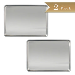 "18 Gauge Aluminium Commercial Baker's Full Size Sheets / Baking Trays / Pan / 18 x 26"" (Set of 2)"